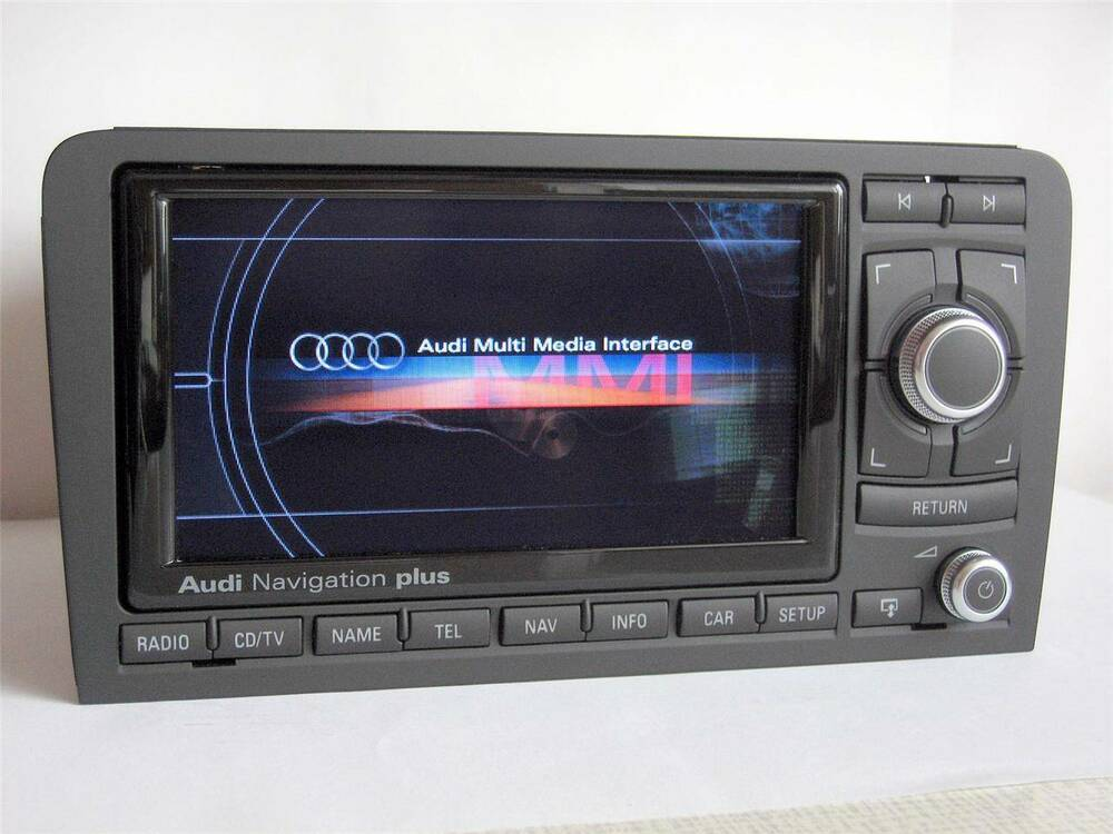 usa canada audi a3 s3 rs3 rns e 2015 map dvd navigation chrome glossy 8p0035192s ebay. Black Bedroom Furniture Sets. Home Design Ideas