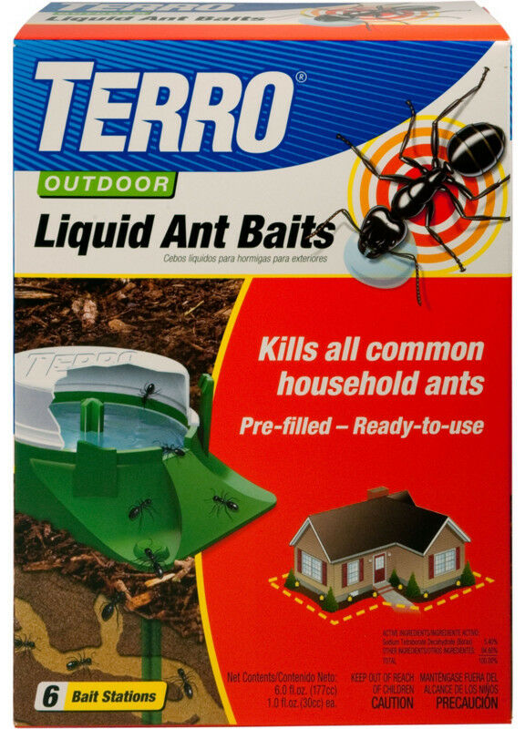New TERRO Outdoor Liquid Ant Baits *6 Stakes* Insect Pest