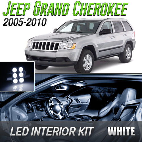 2005-2010 Jeep Grand Cherokee White LED Lights Interior