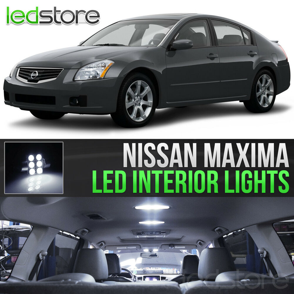 White Led Lights Interior Kit For 2004 2008 Nissan Maxima Ebay