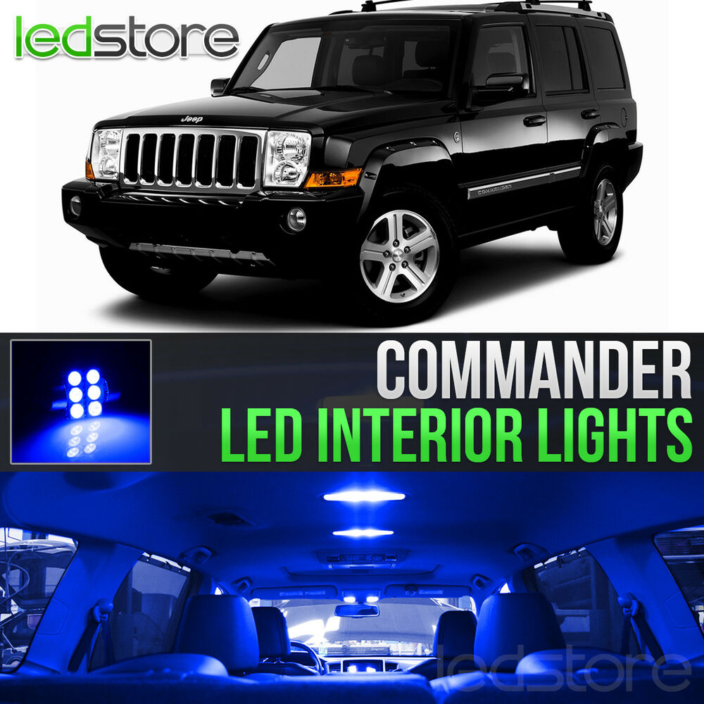 2006 2010 jeep commander blue led lights interior kit ebay. Black Bedroom Furniture Sets. Home Design Ideas