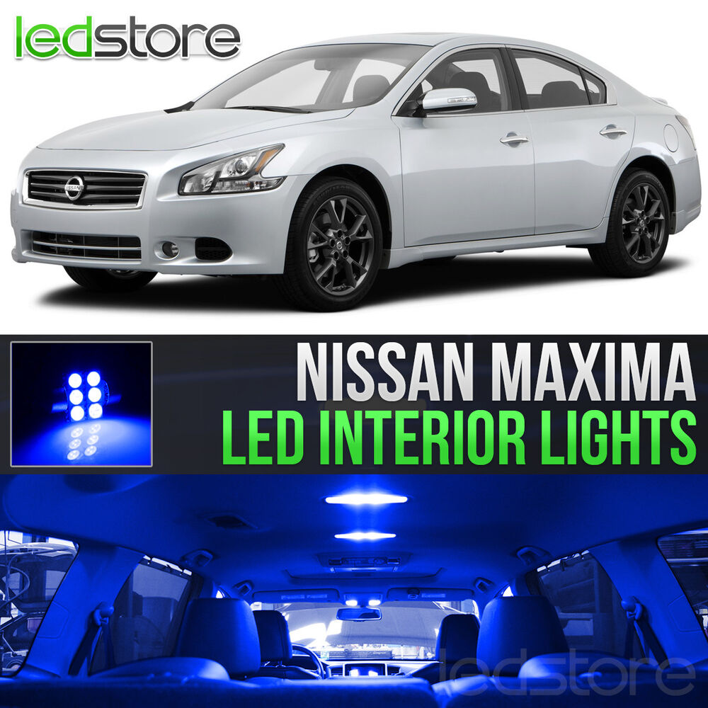 Blue led lights interior kit for 2009 2014 nissan maxima ebay for Led car interior lights ebay
