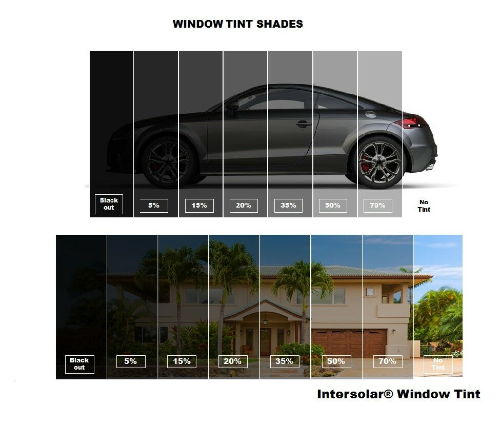 Window tint film roll charcoal bk 5 20 35 50 36 x for Window tint film