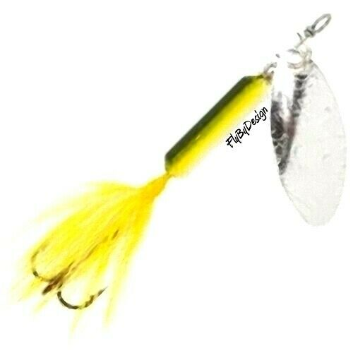 New rooster tail perch spinner lures choice of size for Rooster tail fishing lure