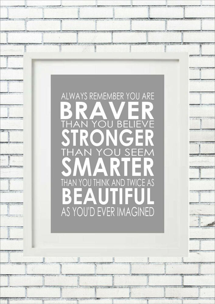 Always Remember You Are Braver Winnie The Pooh Word Wall