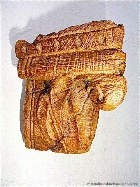 Beautiful antique carved wooden wall candle bracket