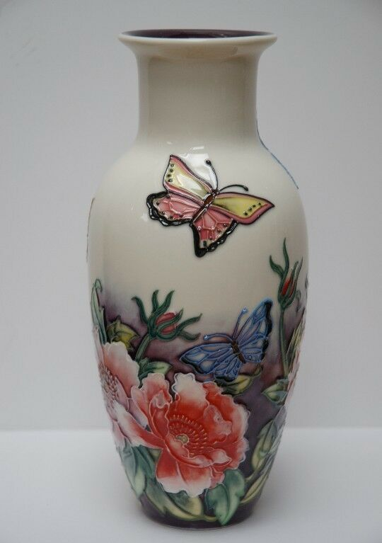 Butterfly Pattern 9 Vase Beautifully Handcrafted By Old Tupton