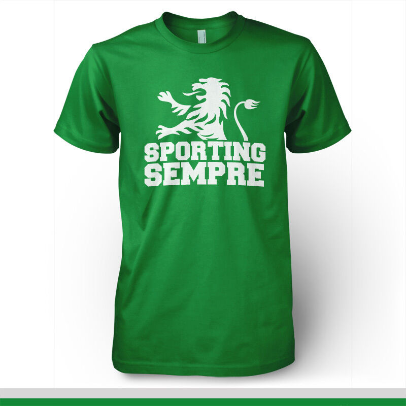 sporting clube de portugal football soccer t shirt lisboa ebay. Black Bedroom Furniture Sets. Home Design Ideas