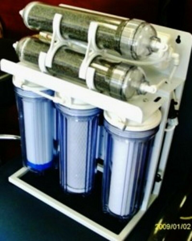 Aquarium reef reverse osmosis water filter system 6 stage for Fish filter system