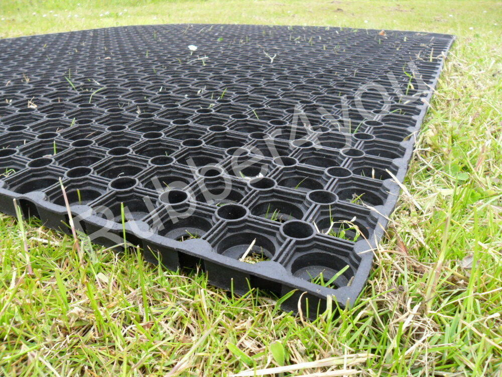 1 X Horse Gateway Rubber Grass Mat 1500mm X 1000mm Free