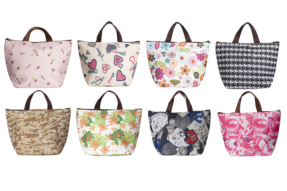 Insulated Tote Lunch Bag Box Cool Canvas Thermal Handbag