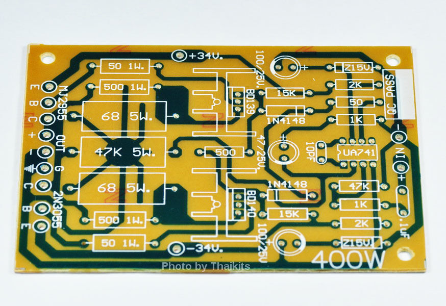 Mono 100w Transistor Power Amplifier Bare Pcb Diy Circuit