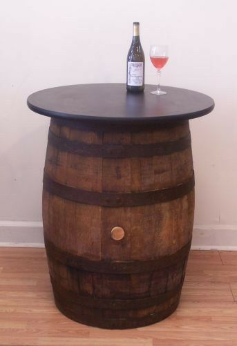 vintage wood whiskey barrel pub bistro bar table ebay. Black Bedroom Furniture Sets. Home Design Ideas