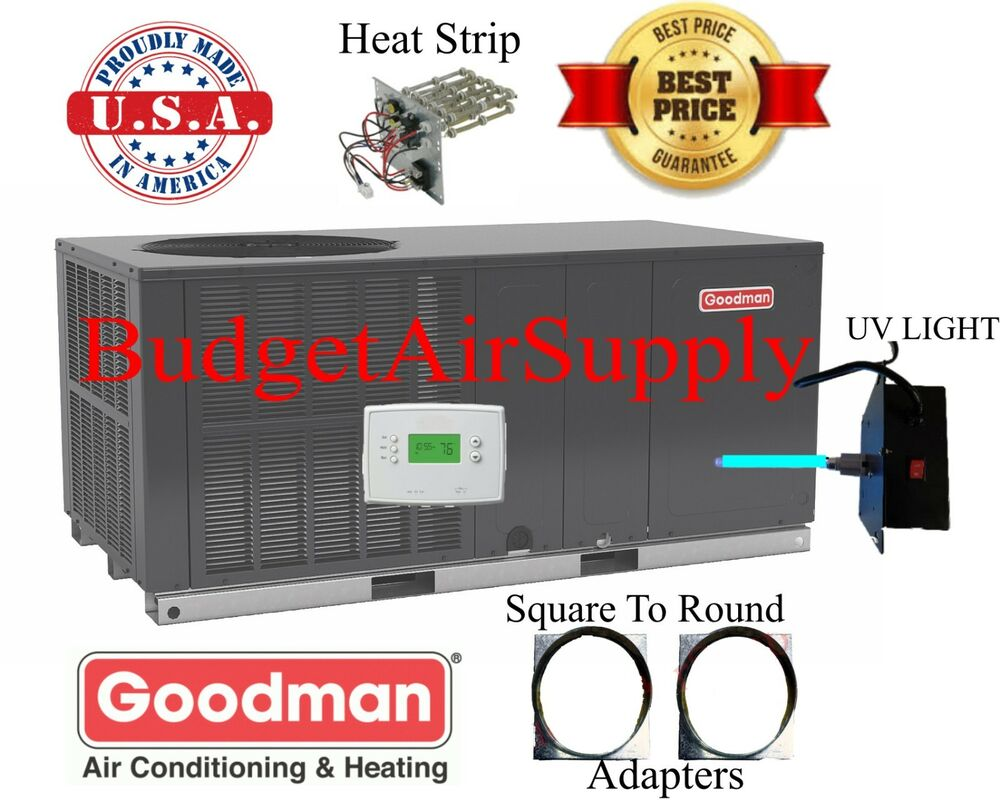 3 5 Ton 3 1 2 14 Seer Goodman Heat Pump Quot All In One Quot Package Unit Gph1442h41 Sq2rd
