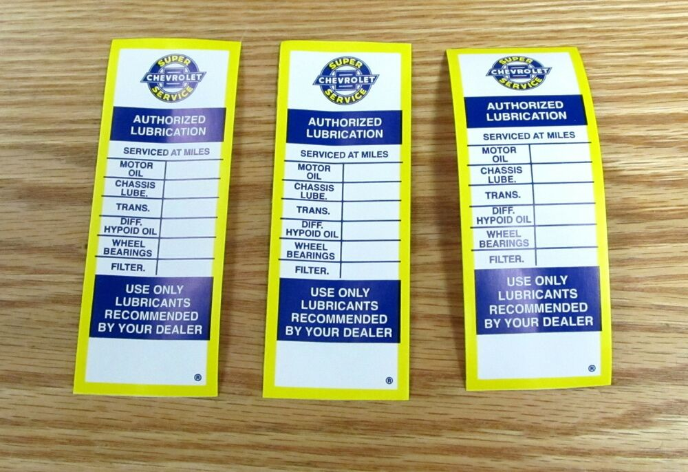 how to read oil change sticker