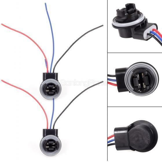 With 3 Wires Adapter Harness Sockets For Standard 3157