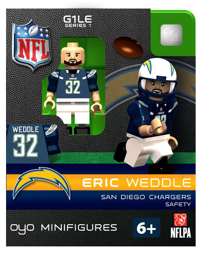 Eric Weddle Oyo San Diego Chargers Nfl Football Figure G1