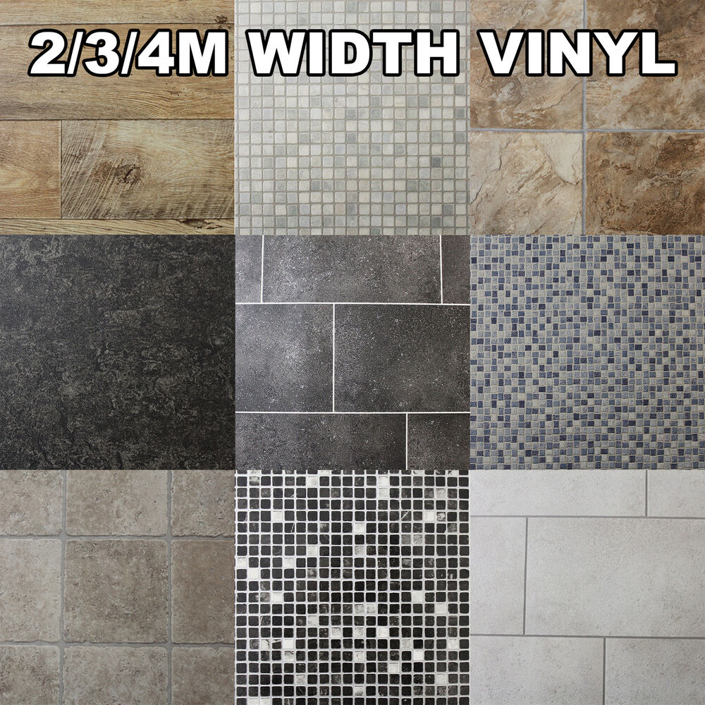 non slip bathroom floor quality non slip vinyl flooring kitchen bathroom lino 19749 | s l1000