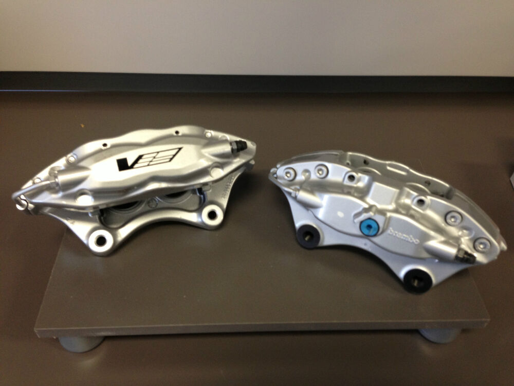 Brembo Brake Kit >> Cadillac CTS-V Brembo Silver 4 Piston Rear Calipers Pair w ...