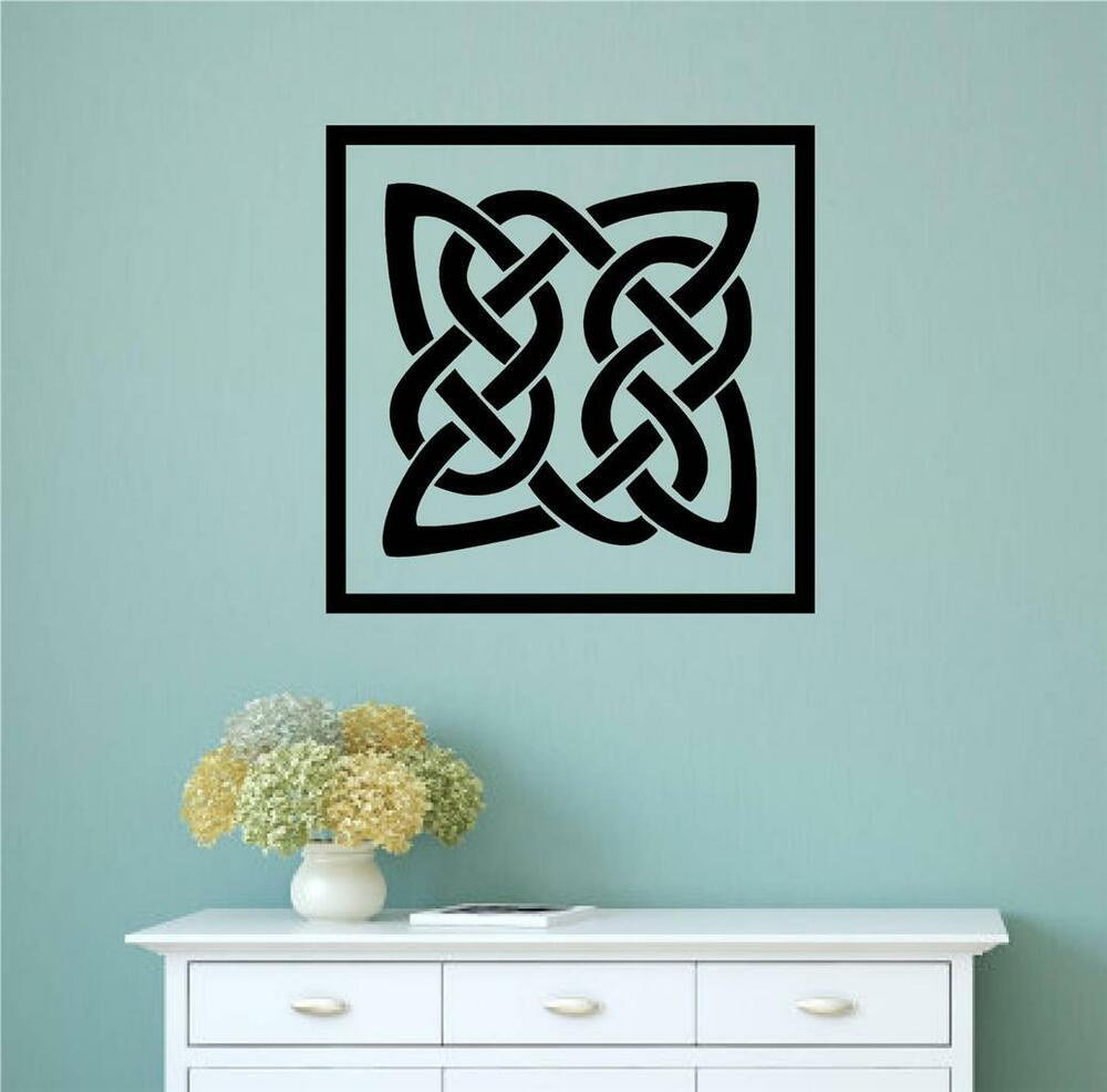 Celtic Irish Design St Patrick 39 S Day Vinyl Decal Wall Stickers Home Decor Art Ebay