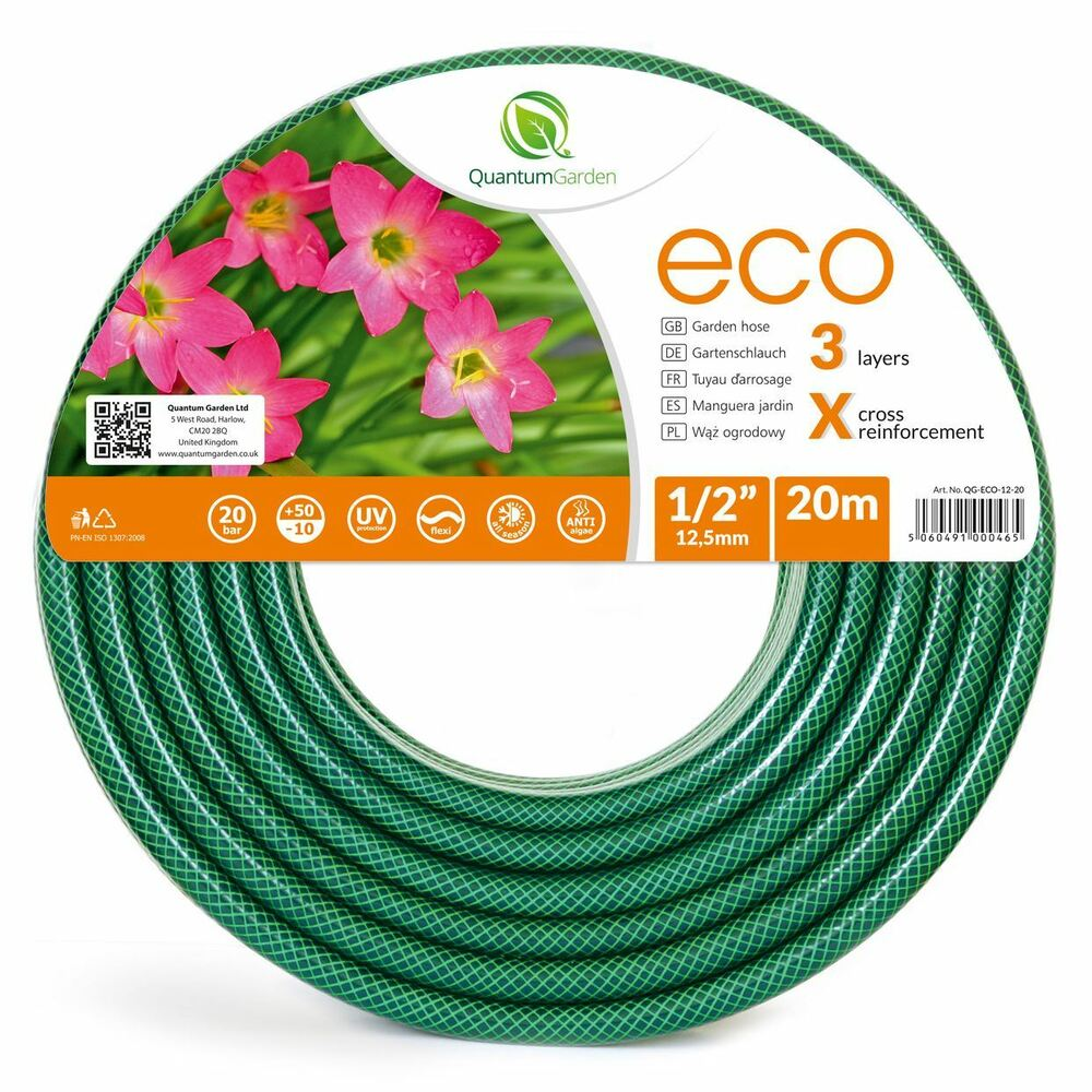 1 2 Quot 20m 3 Layer Reinforced Garden Hose Pipe