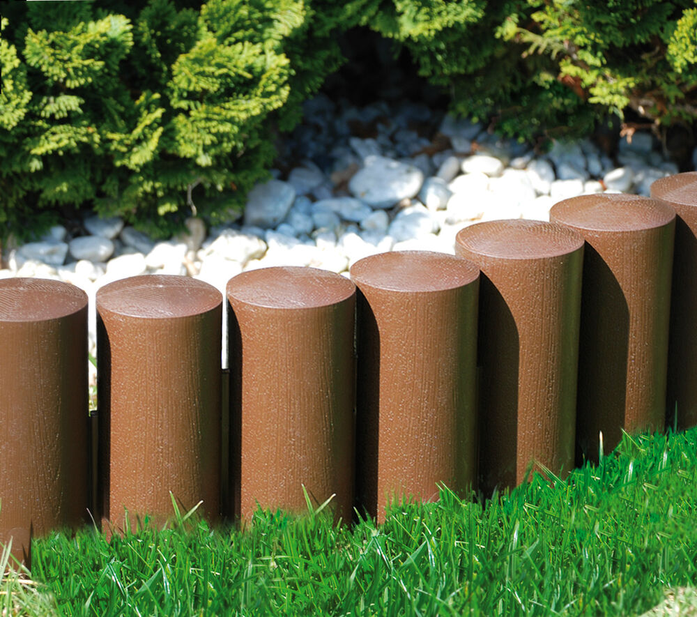 Very strong garden fence lawn edging boarder edge palisade - Plastic border for garden ...