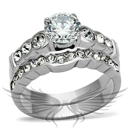 Ss beautiful round cut lab created russian sim diamond for Lab created diamond wedding rings