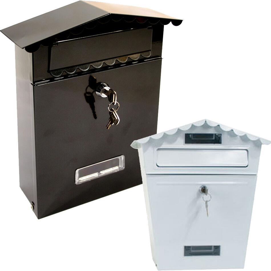 Saw Wall Mount Box : Lockable outside letterbox letter post mail box postbox