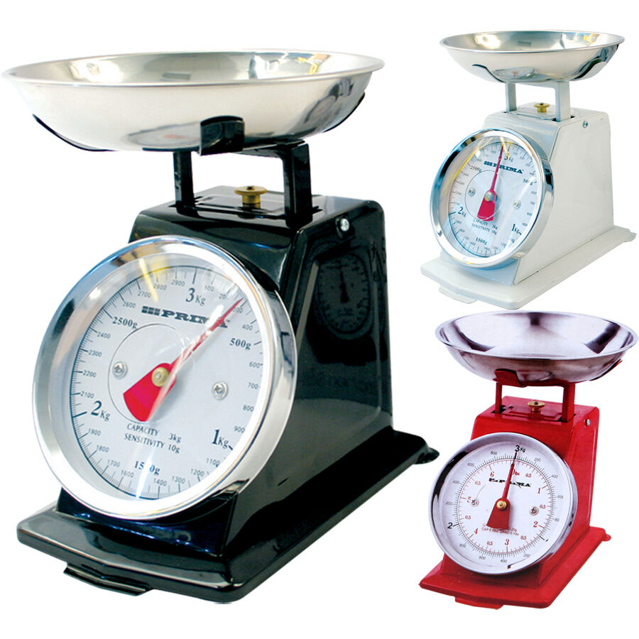 New 3kg traditional weighing kitchen scale bowl retro for Traditional kitchen scales