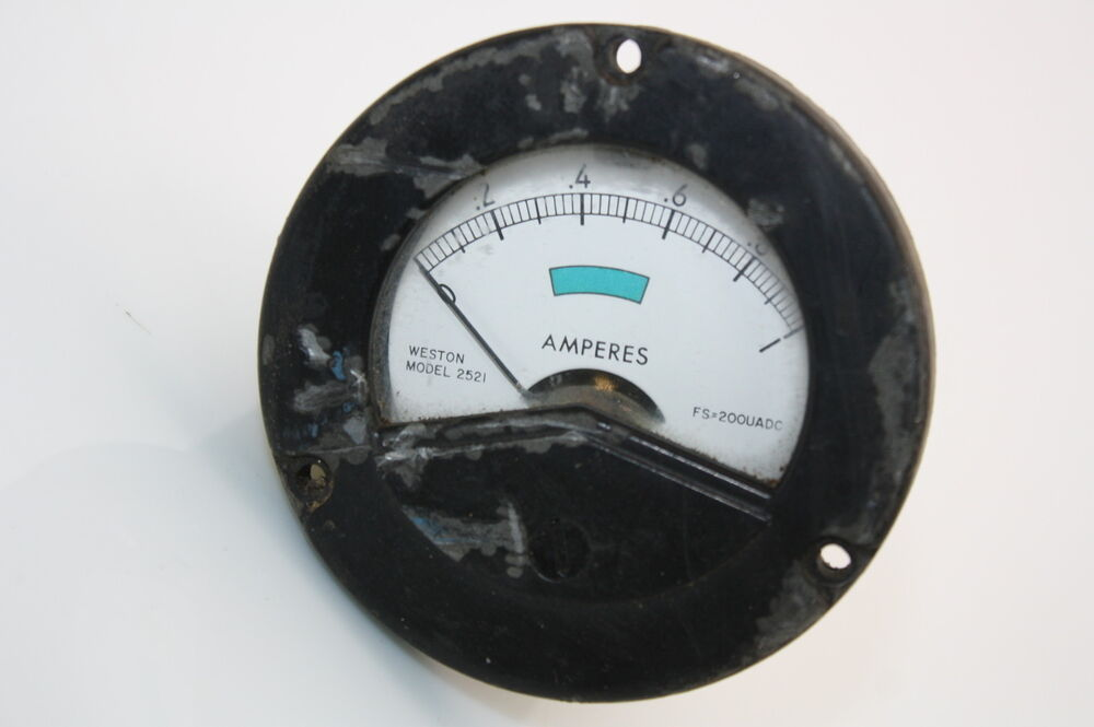 Ampere Meter Instrument : Aircraft panel indicator instrument ampere meter ammeter