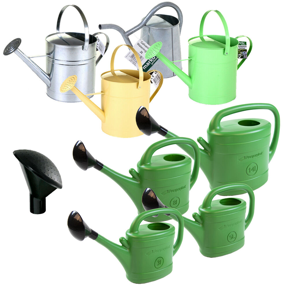Lightweight garden greenhouse watering can rose plants water spray plastic metal ebay - Sprinkling cans ...
