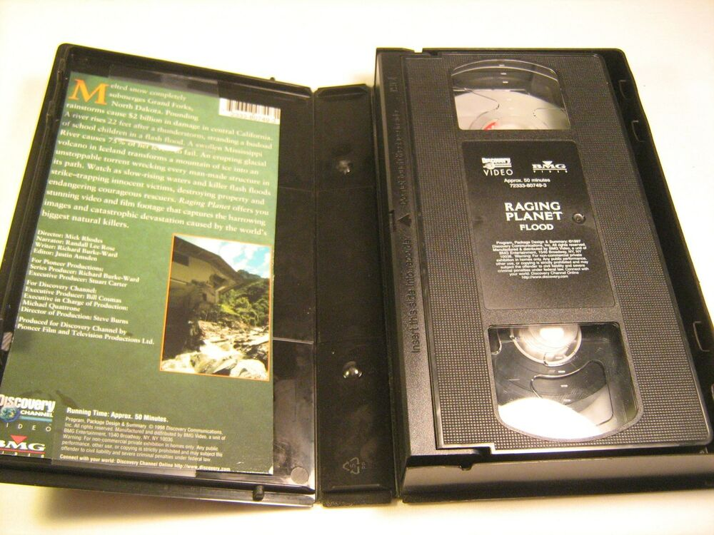 rare nature vhs tape raging planet flood discovery channel z10a3 ebay. Black Bedroom Furniture Sets. Home Design Ideas