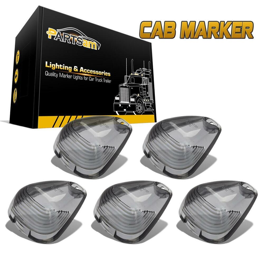 5x Smoke Cab Marker Clearance Light Lens Covers For Ford F