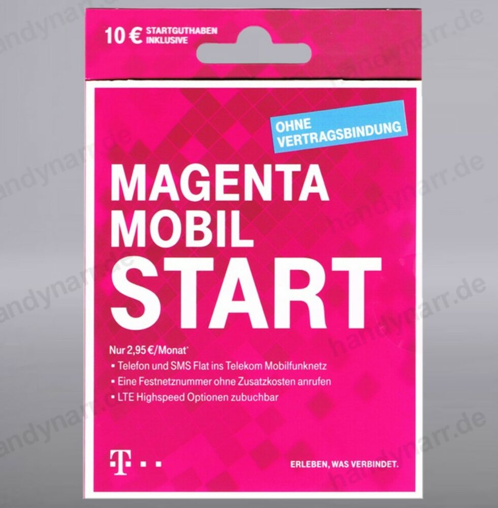 telekom magenta xtra sim karte start mobil 10 guthaben. Black Bedroom Furniture Sets. Home Design Ideas