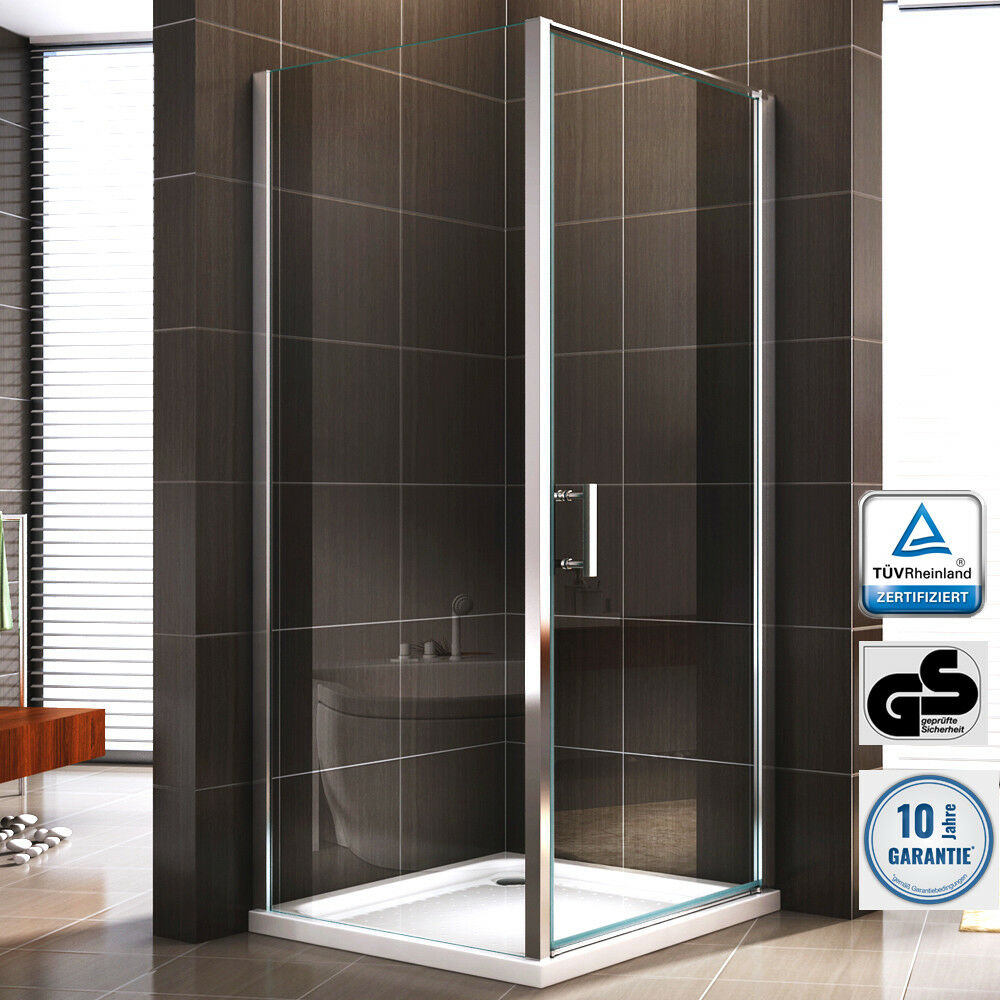 duschkabine duschabtrennung dusche rechteck nano esg echtglas glas 195cm ebay. Black Bedroom Furniture Sets. Home Design Ideas
