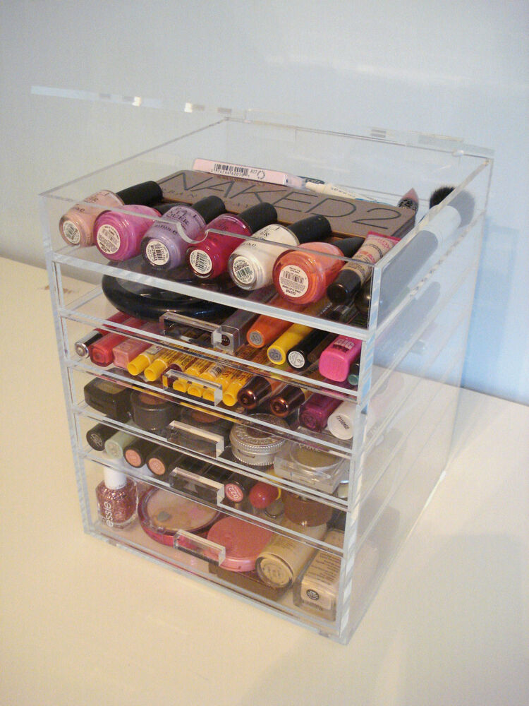 Five Makeup Tips From A Pro Makeup Artist: ACRYLIC LUCITE MAKEUP ORGANIZER CLEAR COSMETIC STORAGE 5