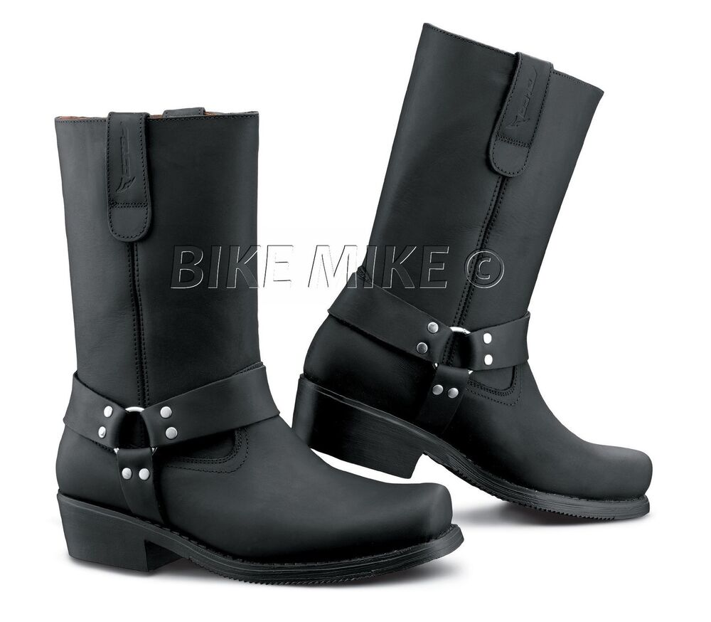 motorradstiefel chopper biker boots falco schwarz black gr 36 47 ebay. Black Bedroom Furniture Sets. Home Design Ideas