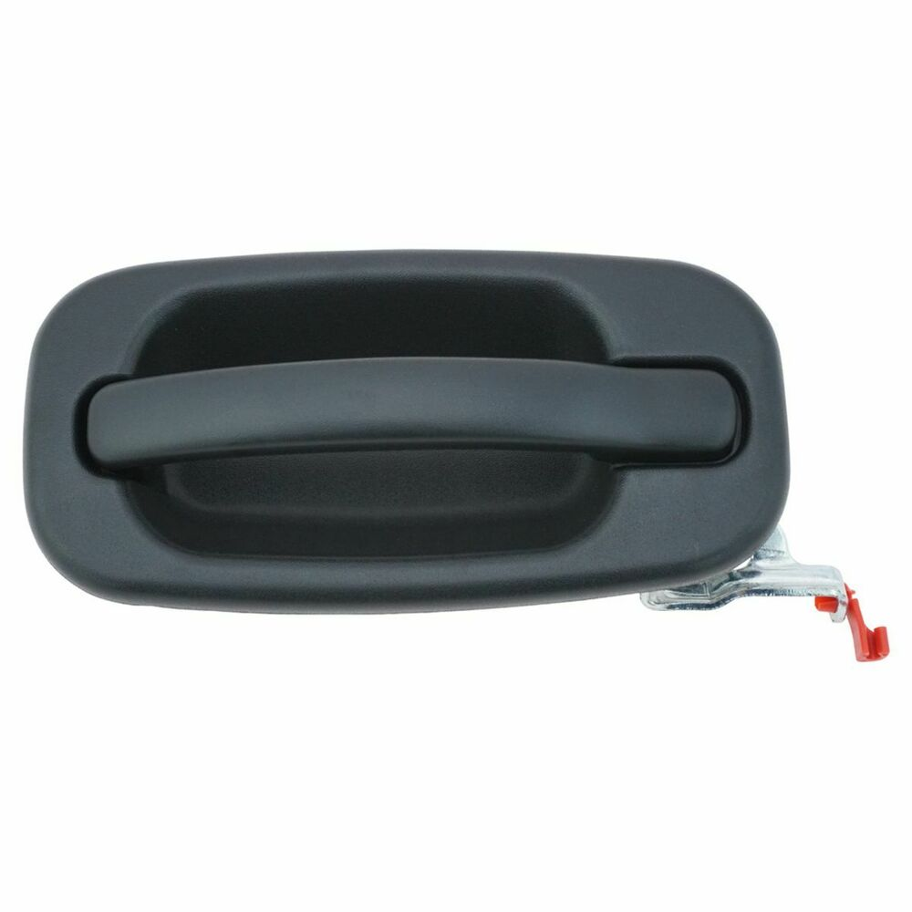 Door handle outside exterior black rear passenger right for Rear exterior door