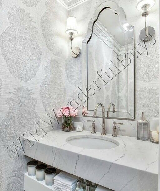 Frameless Arched Wall Mirror Beveled Venetian Vanity Bathroom Pottery