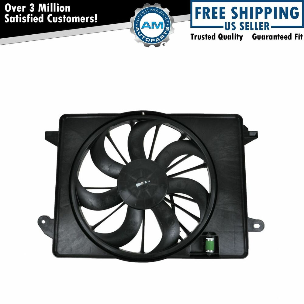 Radiator Cooling Fan Assembly For Dodge Charger Challenger