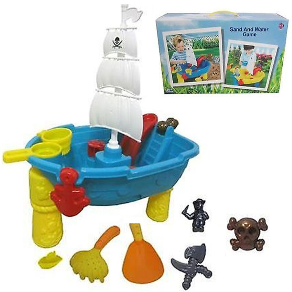 Water Game Toy : Beach pirate ship sand and water table work pit desk play