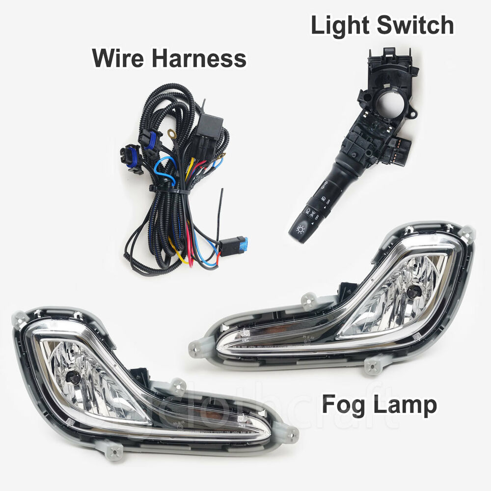 New Oem Fog Light Lamp Complete Kit Wiring Harness For Hyundai Accent 2012