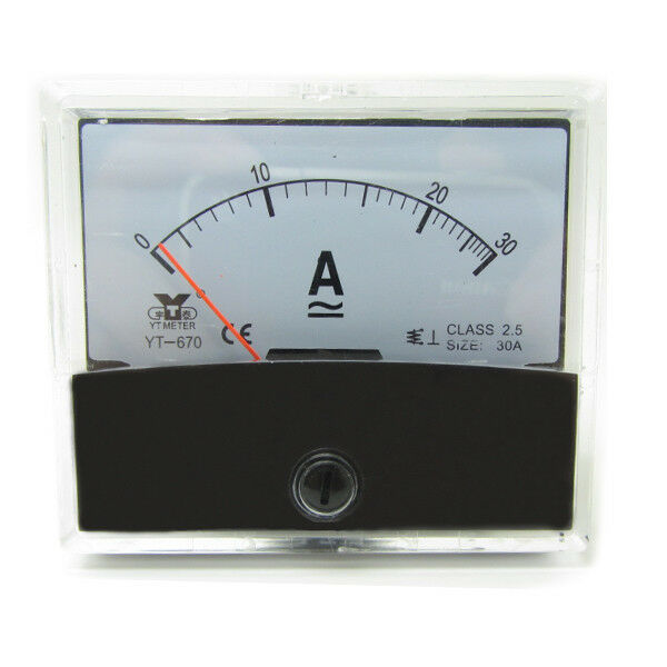 1 X Analog Panel Amp Meter Ac30a Ammeter Panel Needn U0026 39 T