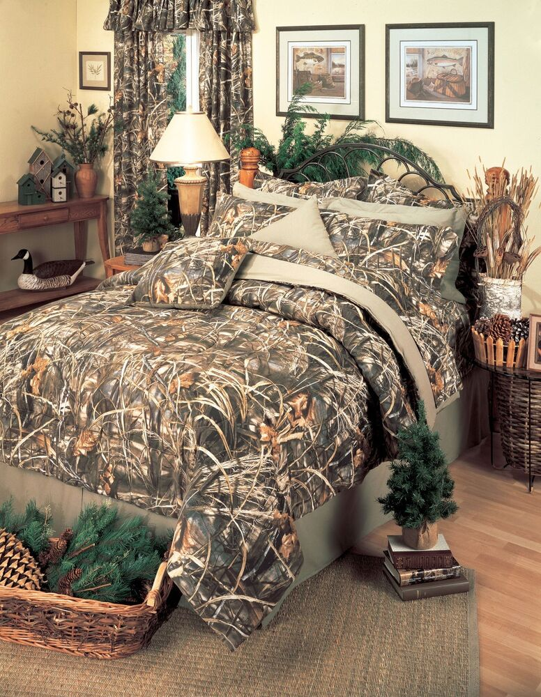 Realtree 174 Max 4 Camo Comforter Set 5 Sizes Camouflage