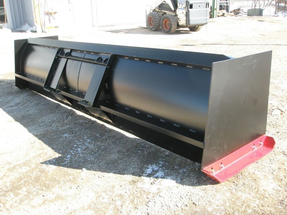 Skid Steer Tool Box : Ft snow pusher attachment for skid steer ebay