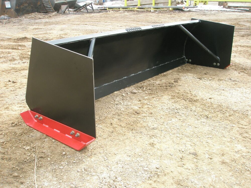 Skid Steer Tool Box : Ft snow pusher skid steer attachment ebay