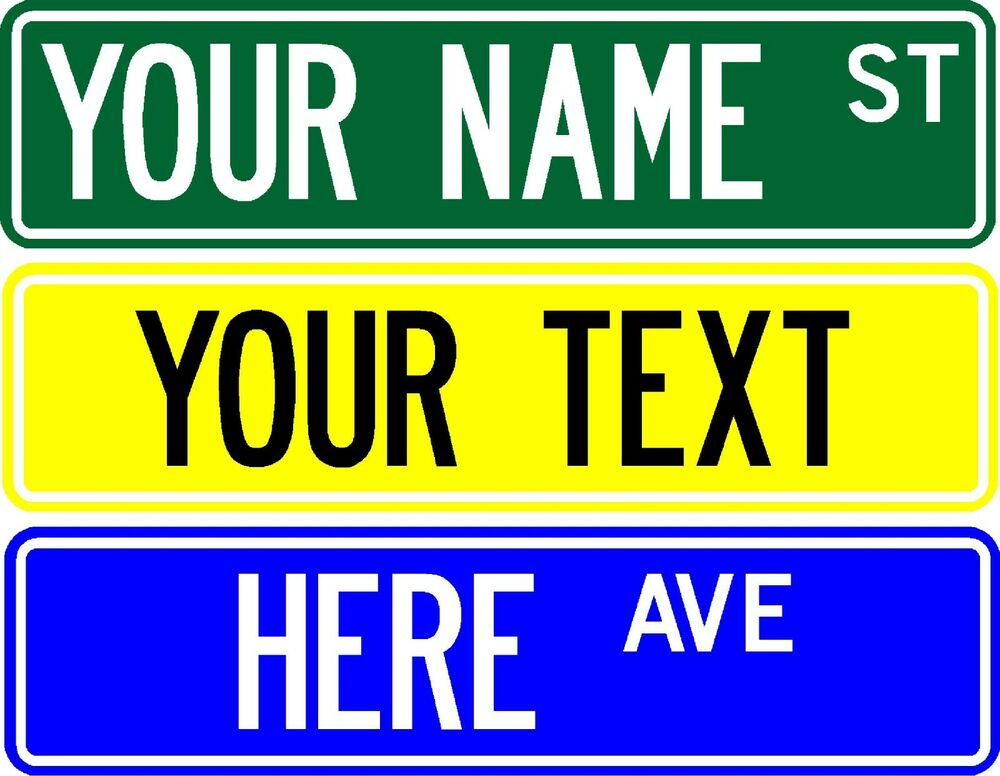 Make Your Own Street Sign 6 X24 Customize With Any Name
