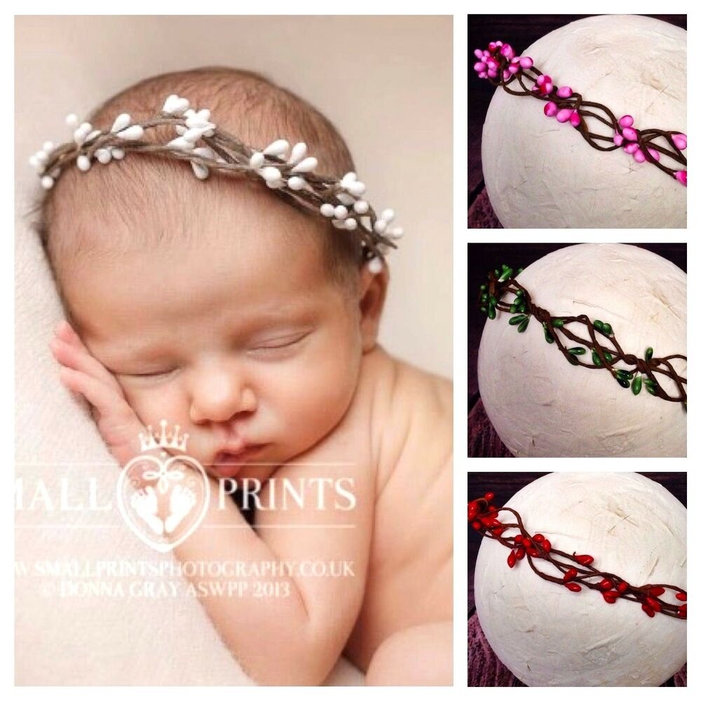 Details about Baby Girl Halo Headband Hairband Pip Berry Photography Prop 86cafb4de03