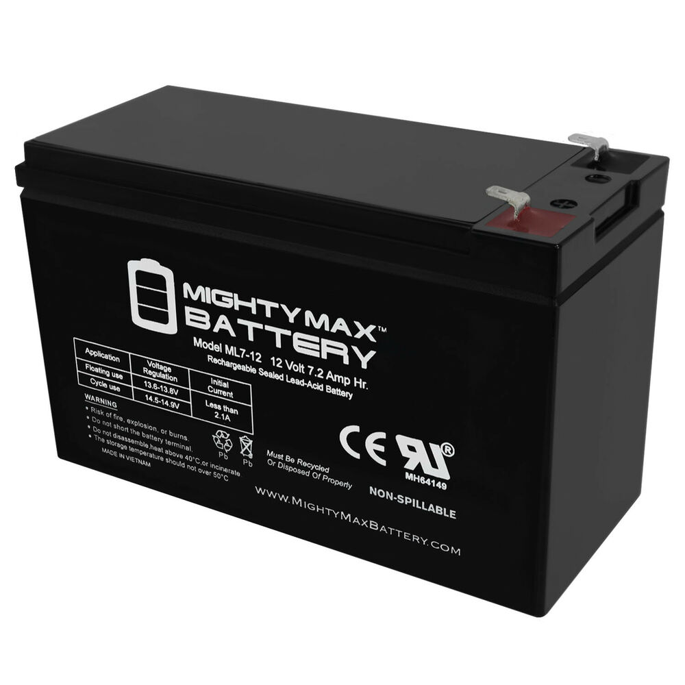 mighty max 12 volt 7 amp hour alarm battery ebay. Black Bedroom Furniture Sets. Home Design Ideas