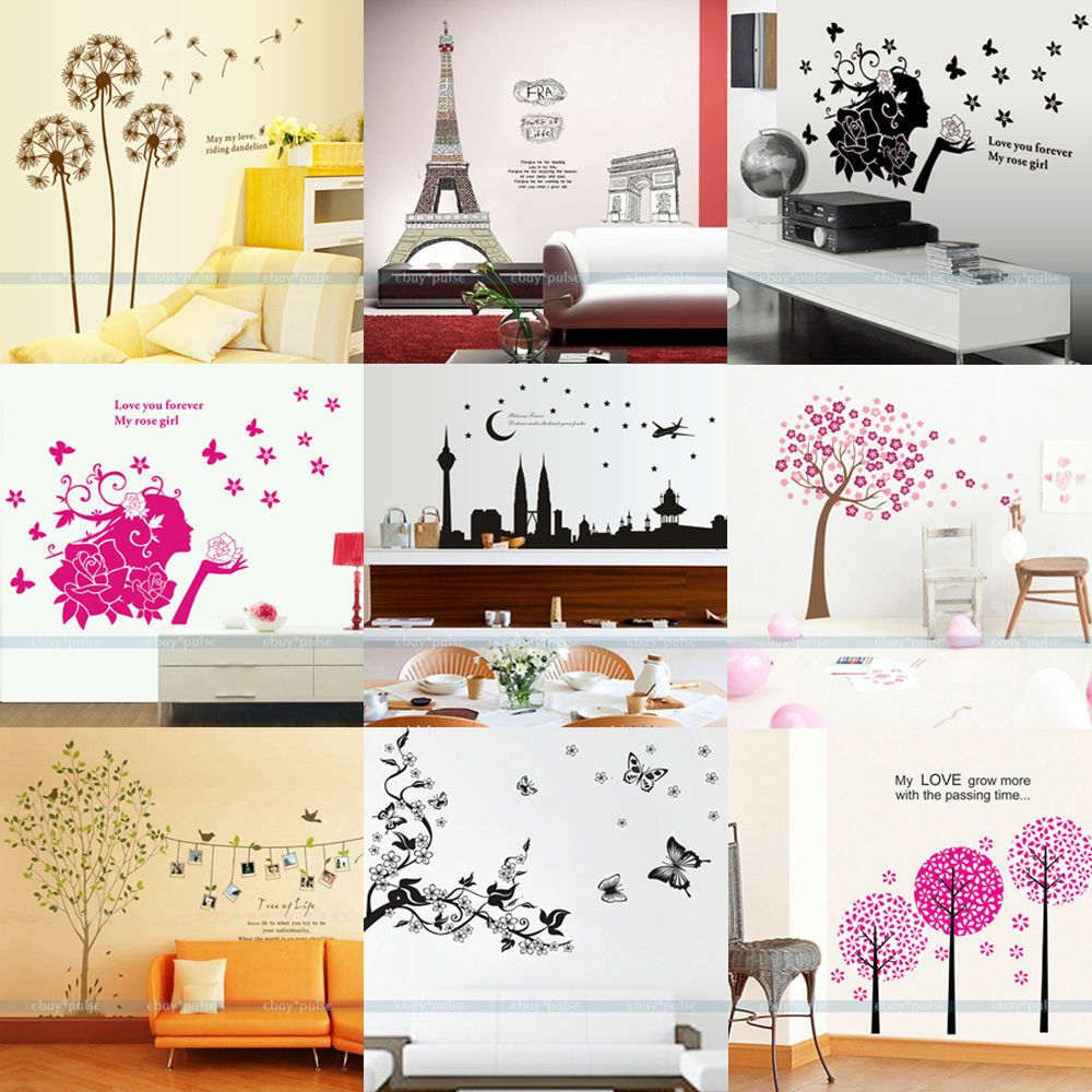 New removable vinyl art wall quote kids stickers paper for Room decor art